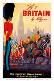 Fly To Britain By Clipper - Pan American World Airways (PAA) - British Royal Procession Kunstdrucke von M. Von Arenburg
