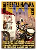 February Fiestas in Havana - January 30 to February 28, 1937 - Dance, Music, Historical Pageants Affischer av Mario Carreño
