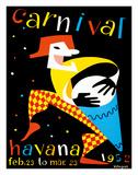 Carnival - Havana, Cuba - Feb. 23 to Mar. 23, 1952 Giclée-tryk af Villegas
