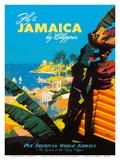 Fly to - Jamaica - by Clipper - Pan American World Airways Plakaty autor Mark Von Arenburg