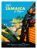 Fly to - Jamaica - by Clipper - Pan American World Airways Posters by Mark Von Arenburg