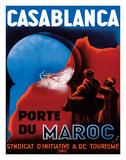 Casablanca, Morocco - Port of Morocco - Syndicate of Tourism Initiative Wydruk giclee autor Xima