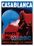Casablanca, Morocco - Port of Morocco - Syndicate of Tourism Initiative Poster by  Xima