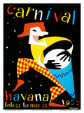 Carnival - Havana, Cuba - Feb. 23 to Mar. 23, 1952 Poster von  Villegas