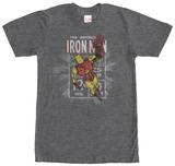 Iron Man- Distressed Stamp Mikiny