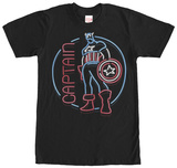 Captain America- Neon Sign T-Shirts