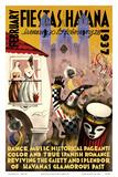 February Fiestas in Havana - January 30 to February 28, 1937 - Dance, Music, Historical Pageants Poster av Mario Carreño