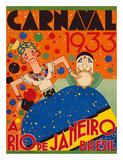 Renato - Carnaval (Carnival) 1933 - A Rio de Janeiro, Bresil (Brazil) - Giclee Baskı