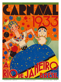 Carnaval (Carnival) 1933 - A Rio de Janeiro, Bresil (Brazil) Posters par  Renato