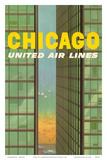 Chicago, USA - Lake Shore Drive - United Air Lines Affischer av Stan Galli