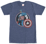 Captain America- Distressed Classic T-shirts