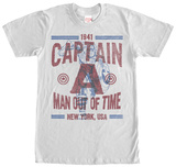 Captain America- Man Out Of Time T-shirts