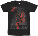 Captain America- Scarlet Charge Shirts