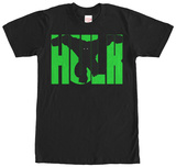 Incredible Hulk- Name Block Shirts