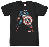 Captain America- Comic Collage T-Shirt