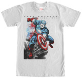 Captain America- Watercolor Action T-Shirt