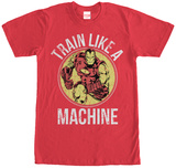 Iron Man- Train Like A Machine T-shirts