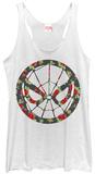 Juniors Tank Top: Spiderman- Floral Spider T-Shirt
