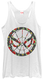 Juniors Tank Top: Spiderman- Floral Spider T-Shirt
