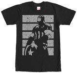 Captain America- Distressed Profile T-Shirt