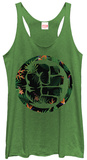 Juniors Tank Top: Incredible Hulk- Tropical Smash Womens Tank Tops