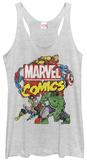 Juniors Tank Top: Avengers- Action Team Distressed Vêtements