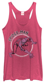 Juniors Tank Top: Spiderman- In The Spotlight T-Shirt