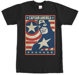 Captain America- Stars & Strips Poster T-shirts