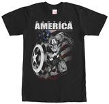 Captain America- Black & White Charge Vêtements