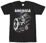 Captain America- Black & White Charge T-shirts