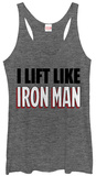 Juniors Tank Top: Iron Man- Lift Like T-shirts