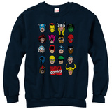 Crewneck Sweatshirt: Marvel- Cast Of Characters T-Shirts