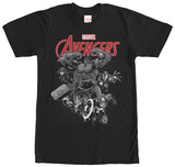 Avengers- Black & White Rush T-Shirt