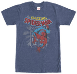 Spiderman- Distressed Stamp Shirts