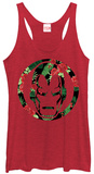 Juniors Tank Top: Iron Man- Floral Iron T-Shirt