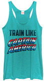 Juniors Tank Top: Captain America- Training Like Shirts