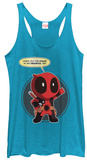Juniors Tank Top: Deadpool- Check The Chump T-shirts
