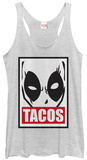 Juniors Tank Top: Deadpool- Tacos Poster Shirts
