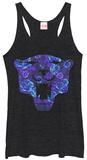 Juniors Tank Top: Black Panther- Floral Logo T-Shirts