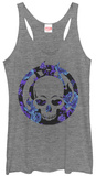 Juniors Tank Top: Ghost Rider- Floral Skull Shirts
