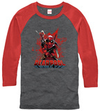 Long Sleeve: Deadpool- Center Of The Action  (Raglan) T-shirty
