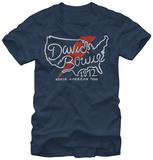 David Bowie- North America Tour '72 T-shirts