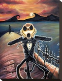 Jack Screams Stretched Canvas Print by Joey Rotten