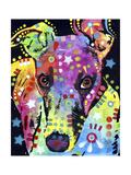 Curious Greyhound Giclée-trykk av Dean Russo