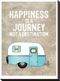 Camper Happiness Is Journey Impressão em tela esticada por Amy Brinkman