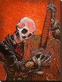 El Guitarrista Stretched Canvas Print by David Lozeau