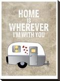 Camper Home Is Wherever Impressão em tela esticada por Amy Brinkman