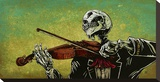 El Violinista Stretched Canvas Print by David Lozeau