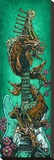 Koi Dragon Strat Stretched Canvas PrintDavid Lozeau