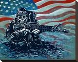US Navy SEAL Opspændt lærredstryk af David Lozeau